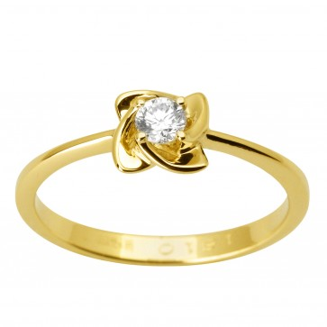 Каблучка з 1 діамантом 021-1760
