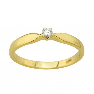 Каблучка з 1 діамантом 021-4003