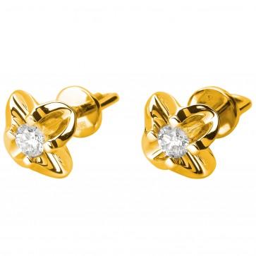 Сережки з 1 діамантом 022-0831