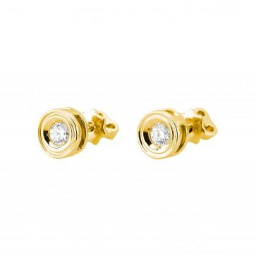 Сережки з 1 діамантом 022-1258
