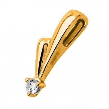 Підвіска з 1 діамантом 029-0208