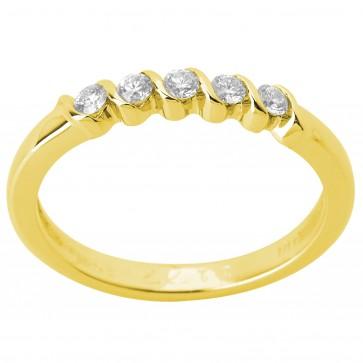 Каблучка з декількома діамантами 041-1204