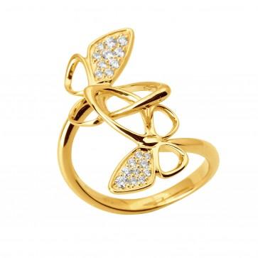 Кольцо с несколькими бриллиантами 041-1733