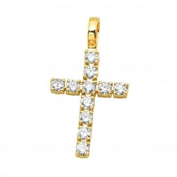 Хрест з декількома діамантами 049-4010
