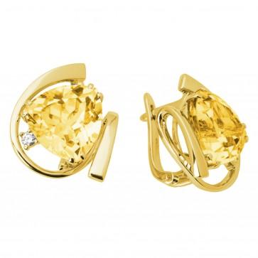 Сережки з діамантами та кольоровим камінням 082-0660