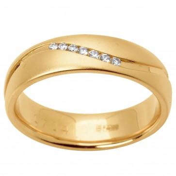 Обручка з декількома діамантами 141-1506