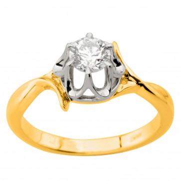 Каблучка з 1 діамантом 321-0405