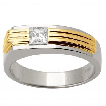 Перстень з 1 діамантом 321-1457