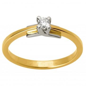 Каблучка з 1 діамантом 321-1575