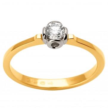 Каблучка з 1 діамантом 321-1670