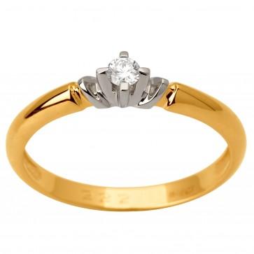 Каблучка з 1 діамантом 321-1675