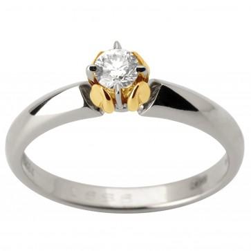 Кольцо с 1 бриллиантом 321-1775