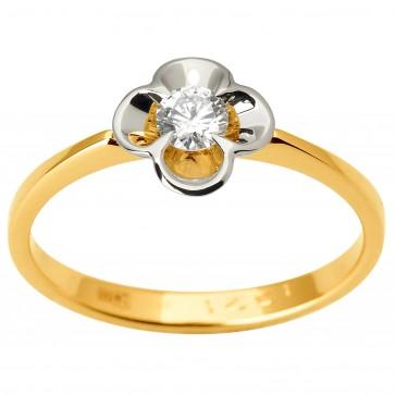 Кольцо с 1 бриллиантом 321-1846