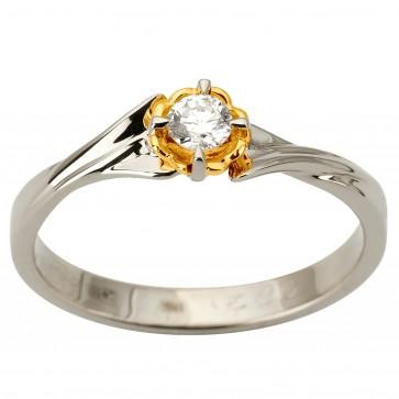 Кольцо с 1 бриллиантом 321-1885