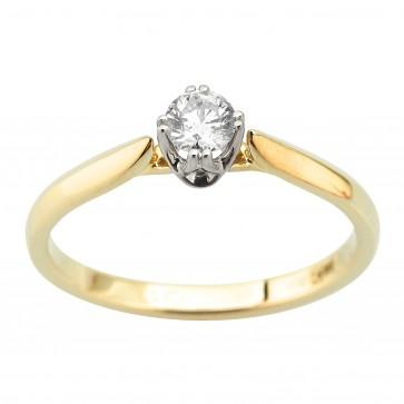 Каблучка з 1 діамантом 321-2058