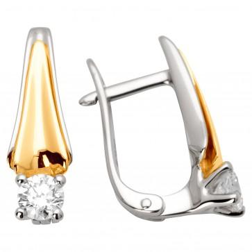 Сережки з 1 діамантом 322-0867