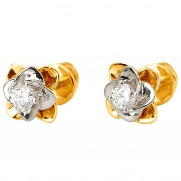 Серьги с 1 бриллиантом 322-1144