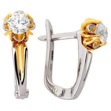 Сережки з 1 діамантом 322-1164