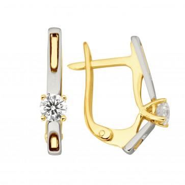 Сережки з 1 діамантом 322-1268