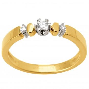 Каблучка з декількома діамантами 341-1531