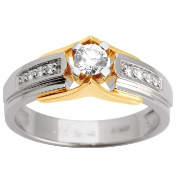 Каблучка з декількома діамантами 341-1619