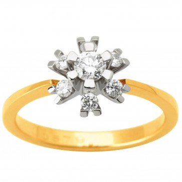 Каблучка з декількома діамантами 341-1626