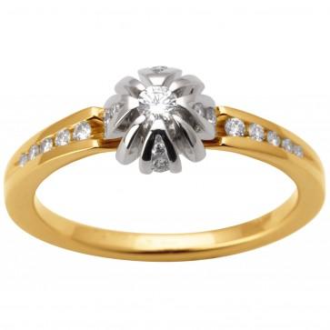 Каблучка з декількома діамантами 341-1656