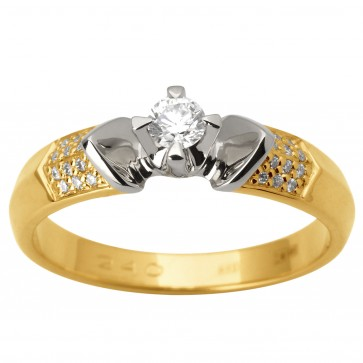 Каблучка з декількома діамантами 341-1786
