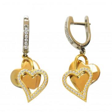 Сережки з декількома діамантами 342-0701
