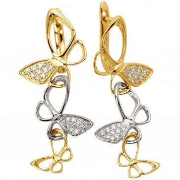 Сережки з декількома діамантами 342-0847