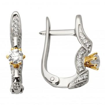 Сережки з декількома діамантами 342-1003