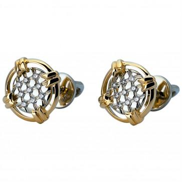 Сережки з декількома діамантами 342-1055