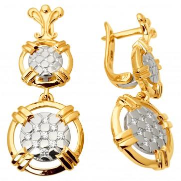 Сережки з декількома діамантами 342-1061