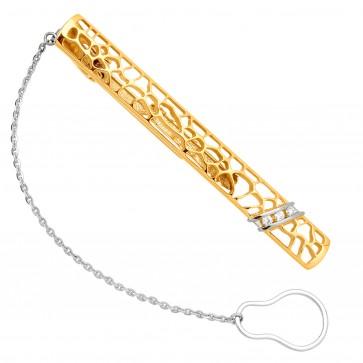 Затискач для краватки з декількома діамантами 345-0078