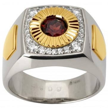 Перстень з діамантами та кольоровим камінням 381-1469