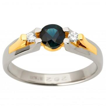 Каблучка з діамантами та кольоровим камінням 381-1688