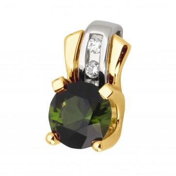 Підвіска з діамантами та кольоровим камінням 389-0742
