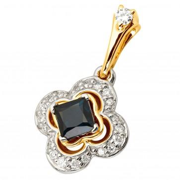 Підвіска з діамантами та кольоровим камінням 389-0799
