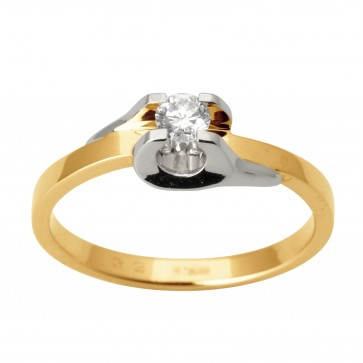 Каблучка з 1 діамантом 821-0182