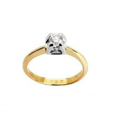 Каблучка з 1 діамантом 821-0188