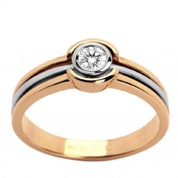 Каблучка з 1 діамантом 821-0533