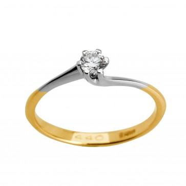 Каблучка з 1 діамантом 821-1003