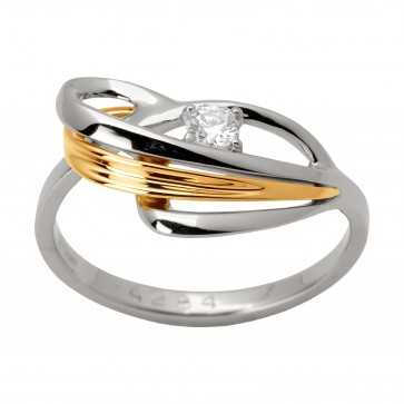 Каблучка з 1 діамантом 821-1302