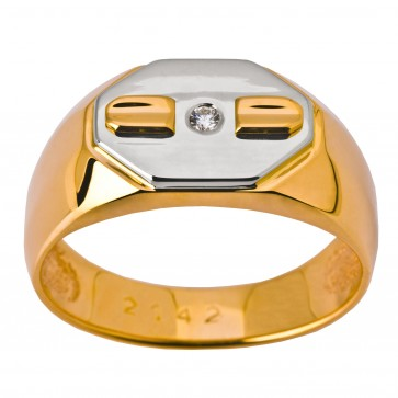 Перстень з 1 діамантом 821-1419