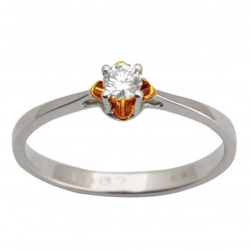Каблучка з 1 діамантом 821-1615