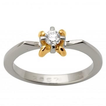 Каблучка з 1 діамантом 821-1636