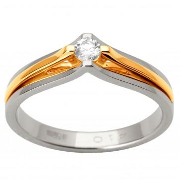 Каблучка з 1 діамантом 821-1698