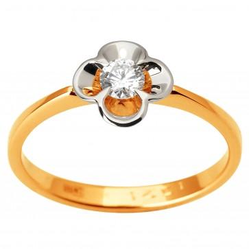 Каблучка з 1 діамантом 821-1846