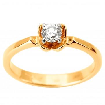 Каблучка з 1 діамантом 821-1874
