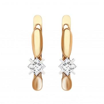 Сережки з 1 діамантом 822-0051